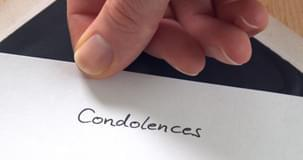 Writing a letter of condolence