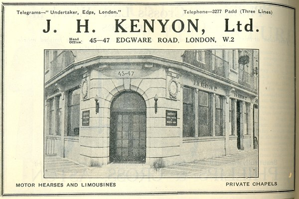 J H Kenyon 45 Edgware Road after rebuilding from BUA Monthly Oct 1935