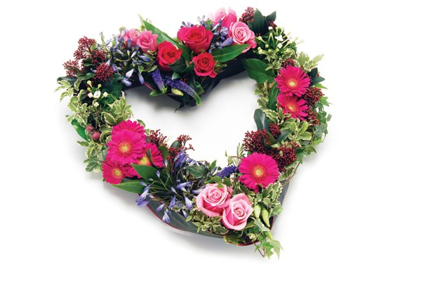 Heart floral tribute Dignity Funerals