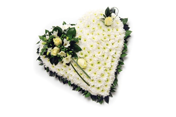 White funeral flowers Dignity Funerals