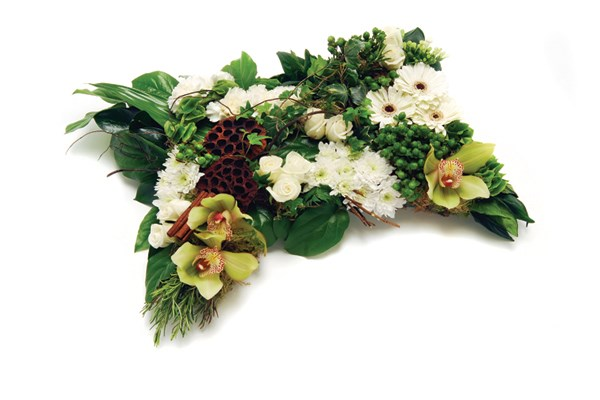 Woodland funeral flowers Dignity Funerals