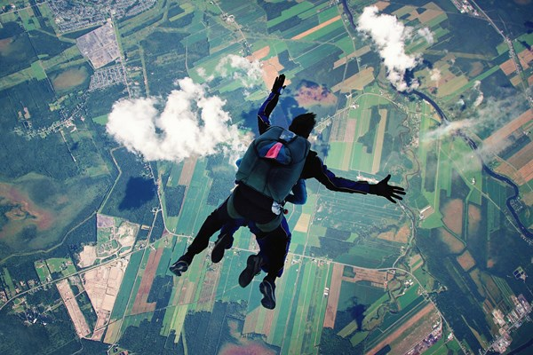 Jump out of a plane and skydive with ashes