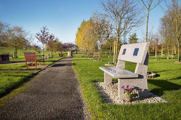 Engraved memorial benches